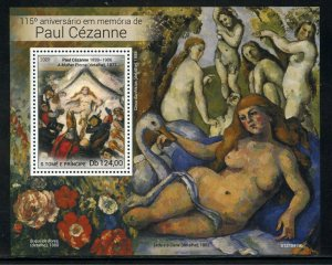 SAO TOME 2021 115th MEMORIAL OF PAUL CEZANNE PAINTINGS S/SHEET MINT NH