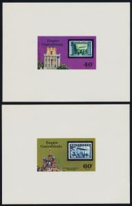 Central Africa 295-6 Deluxe Sheets MNH Stamp on Stamp, Zeppelin