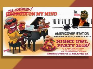 Ray Charles Tickles the Ivories & Eats Sliders at AmeriCover 18 Night Owl Party