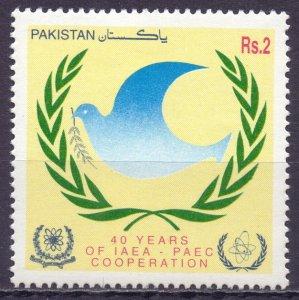 Pakistan. 1997. 983. 40 years of the IAEA dove of peace. MNH.