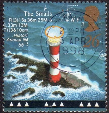Great Britain 1805 - Used - 26p The Smalls Lighthouse (1998) (cv $0.60)
