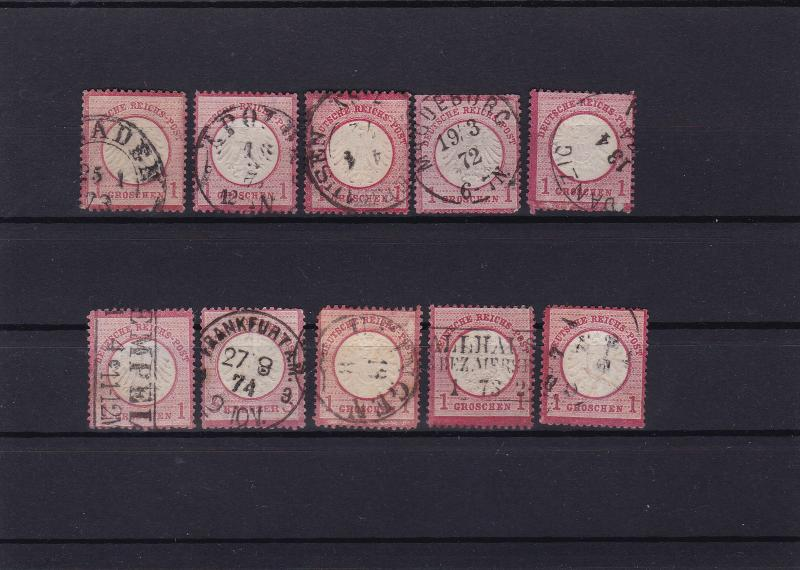 german empire 1872 used good postmark stamps cat £100+ ref r13974