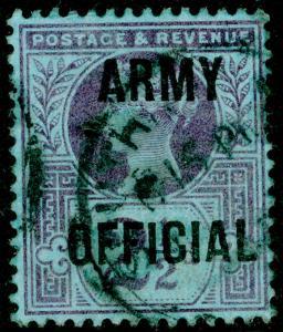 SGO44, 2½d purple/blue, USED. Cat £30.