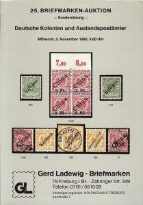 25. Briefmarken-Auktion - Sondersitzung - Deutsche Koloni...