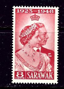 Sarawak 174 MNH 1948 KGVI Silver Wedding low value
