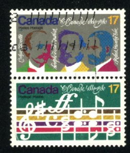 Can #857-58   pair    used VF 1980 PD