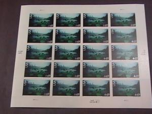 U.S.# C142-MNH-PANE OF 20-SCENIC AMERICAN LANDSCAPES/OKEEFENOKEE--AIR-MAIL--2007