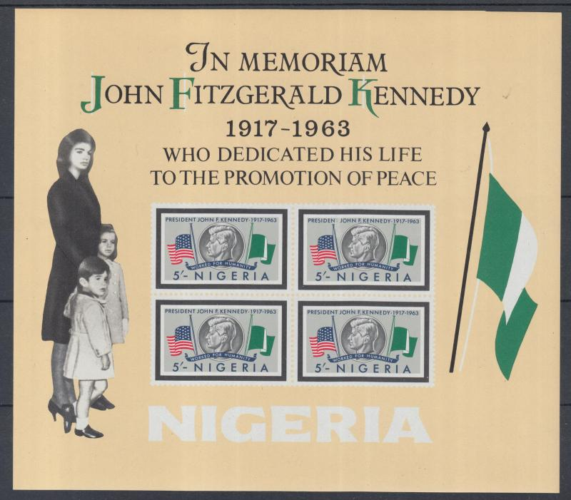 XG-N056 NIGER IND - Kennedy, 1964 In Memory, Imperf. MNH Sheet