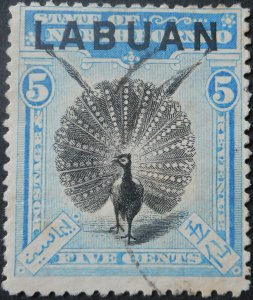Labuan 1900 Five Cents SG 114 used