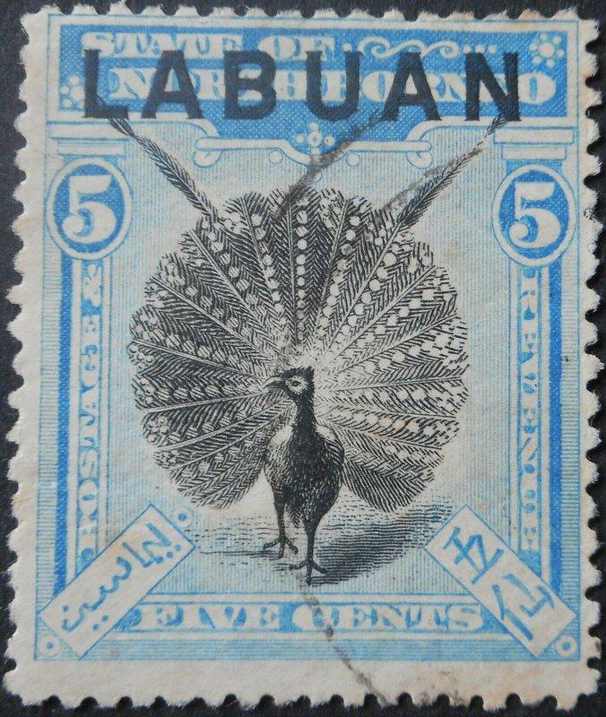 Labuan 1900 Five Cents SG 114 used