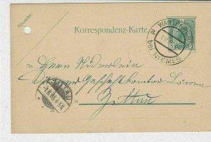 Austria 1905 Wartenberg Niemes Cancel Stamps Card ref R 19499
