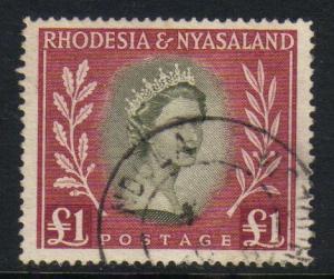 Rhodesia & Nyasaland #155 used, Queen Elizabeth II