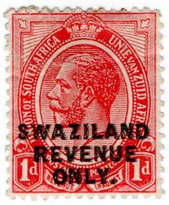 (I.B) Swaziland Revenue : Duty Stamp 1d