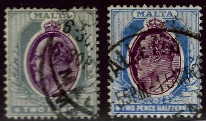 Malta SC#23-24 Used Fine hr...Bid a Bargain!