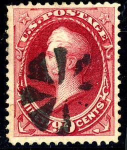 U.S. #166 Used F-VF Sht Perf Fancy  Cancel