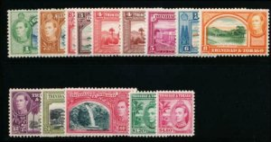 TRINIDAD & TOBAGO 50-61 MINT LH POSTAGE DUE