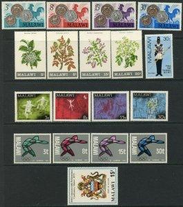 MALAWI Sc#161-164//190-194 1971-72 Six Sets & 2 S/S OG Mint Hinged