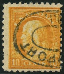 #472 VAR. 10¢ FRANKLIN WITH DOUBLE IMPRESSION MAJOR ERROR WLM2615