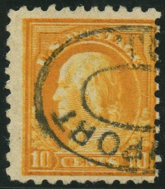 #472 VAR. 10¢ FRANKLIN WITH DOUBLE IMPRESSION MAJOR ERROR WLM2615