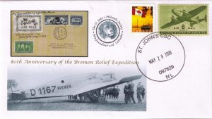 CANADA / NEWFOUNDLAND - 80th Anniversary of the Bremen Relief Ex Cache by SJPS