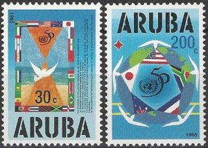 Aruba 116-7   MNH  United Nations  50th Anniversary