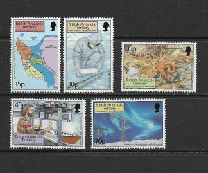 B.A.T. - 1999 SURVEY DISCOVERIES - SCOTT 280 TO 284 - MNH