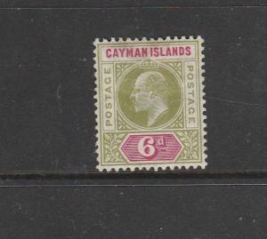 Cayman islands 1907 MCCA 6d MM SG 14
