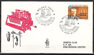 Italy, Scott cat. 1928. Radio Centenary issue. First day cover. ^