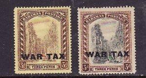 Bahamas-Sc#MR9-10-unused hinged set-War Tax-id2-1918-19-