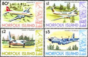 Norfolk Island 1980 SG248-251 Airplanes MNH