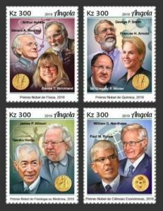 Z08 IMPERF ANG190104a ANGOLA 2019 Nobel Prize winners MNH ** Postfrisch