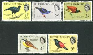 BRITISH HONDURAS Sc#167-171 1962 1c-5c QEII Birds Part Set OG Mint Hinged