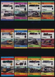 Tuvalu 235-46 MNH Trains, Locomotives
