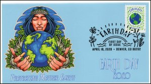 20-082, 2020, Earth Day, Pictorial Postmark, First Day Cover, Mother Earth