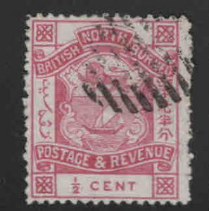 North Borneo Scott 35 used 1887 perf 14, coat of arms stamps