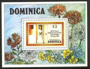 Dominica 1980 QUEEN MOTHER 80th.BIRTHDAY s/s Perforated Mint (NH)