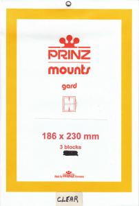 PRINZ 186X230 (3) CLEAR MOUNTS RETAIL PRICE $10.50