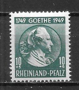 Germany (Rhine-Palatinate) 6NB7 10pf Goethe single MNH