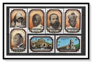 Rwanda #731-737 Catholic Church Anniversary Set MNH