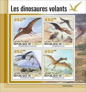 2021/05- DJIBOUTI - FLYING DINOSAURS           4V complet set    MNH ** T