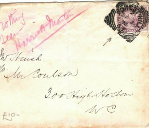 GB Cover SQUARED CIRCLES London *Forest Hill* 1895 {samwells-covers} EA85