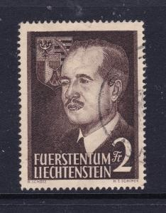 Liechtenstein a good used 2Fr from the 1955 pair