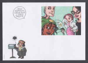 Switzerland Sc 1150-1151 FDC, 2003 Comic Strip Art, cplt set on 3 cacheted FDCs