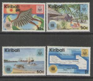 KIRIBATI SG197w/200w 1983 COMMONWEALTH DAY POST OFFICE READING UPWARDS MNH