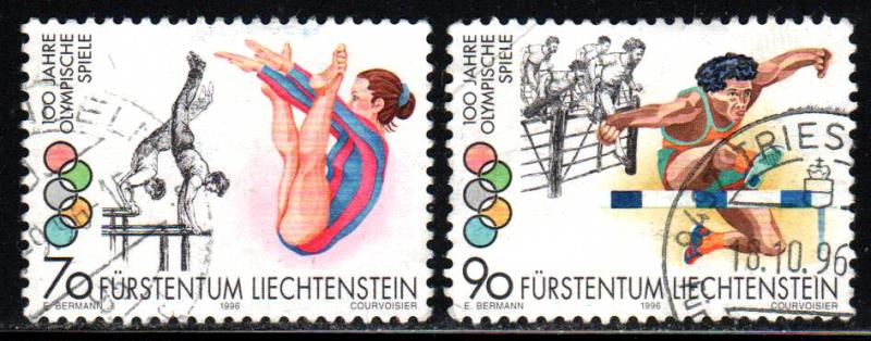 Liechtenstein # 1079-80 ~ Short Set 2/3 ~ Used, HMR ~ cv 2.60