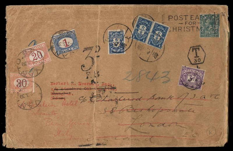 Great Britain Offices in China Scott 193 on Cover