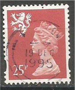 GREAT BRITAIN, SCOTLAND, 1993, used 25p, MACHINS  Scott SMH65