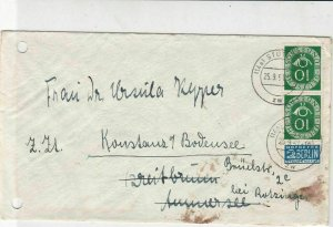 German 1951 Stuttgart Cancel Obligatory Tax Aid for Berlin Stamps Cover Ref26782