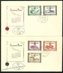 Austria 1955 Republic Joining the UN 1012-1016 FDC Covers 36621