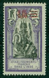 French India #53  Mint  F-VF  VLH  Scott $0.80  Religion